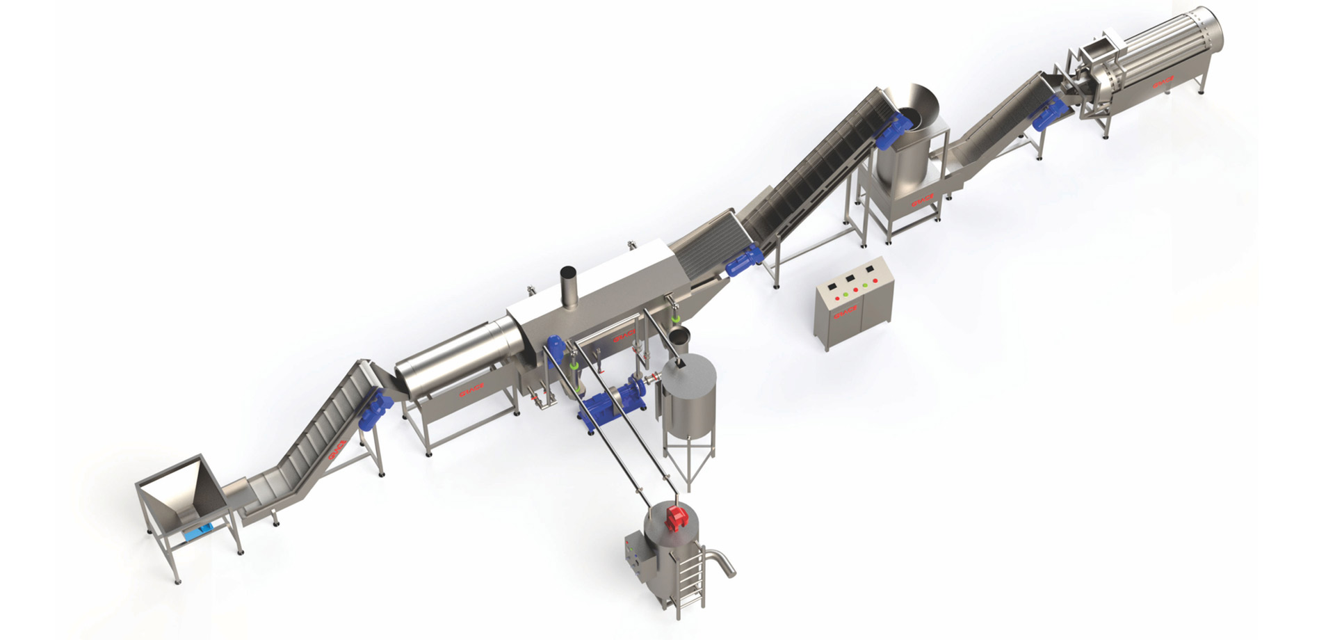 Pellet chips snacks frying lines with higher capacity are more in demand, as snacks demand increasing in India